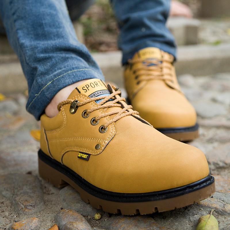 春 潮流工裝鞋英倫休閒馬丁鞋 男士透氣大頭皮鞋男鞋板鞋子
