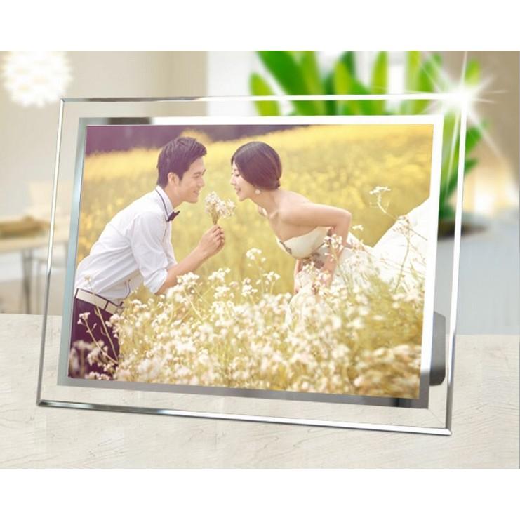 居家擺飾水晶玻璃相框婚紗婚禮擺飾嬰兒兒童 證書相框 相框