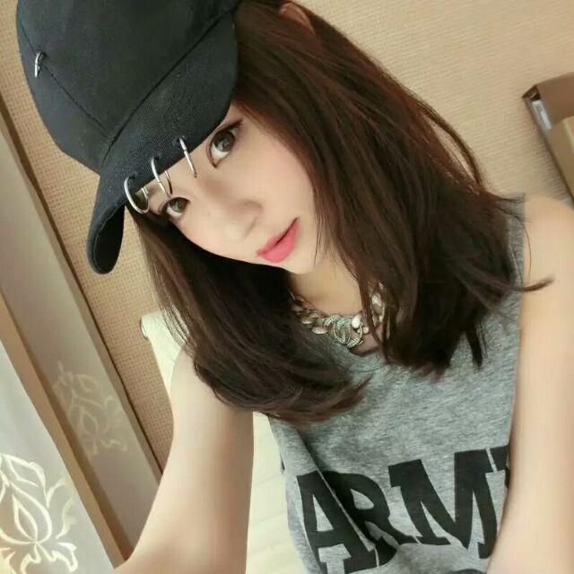Qmi 韓國ins 網紅特別 別針圓環鐵環鴨舌帽棒球帽可調整帽圍