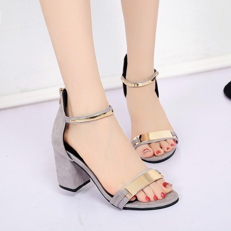 涼鞋女高跟鞋百搭粗跟 女士鞋子露趾帶女鞋韓國尖頭高跟鞋厚底涼鞋厚底跟鞋楔形涼鞋楔形跟鞋娃娃
