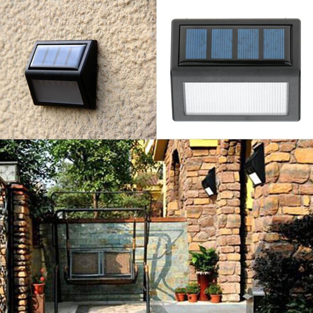 可充電太陽能6 LED 0 36W 12LM 燈光傳感器壁掛架