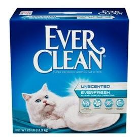 旺旺來~限宅配2 盒一個 ~藍鑽EverClean ~白標雙重活性碳低過敏結塊貓砂25lb