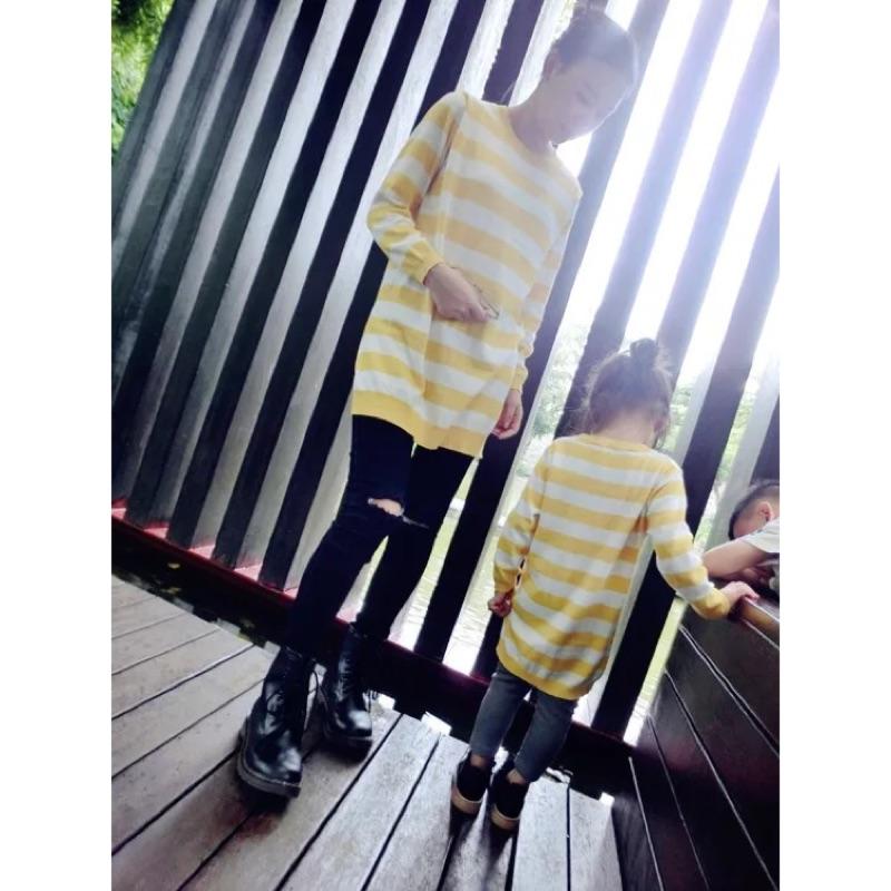 母女親子裝秋✨長版線條針織衣✨