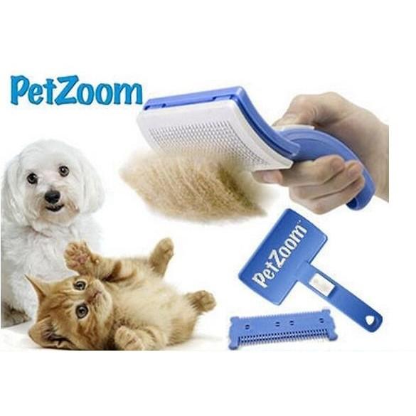 寵物除毛打薄順毛針梳附打薄刀片除毛梳退毛梳毛開結梳寵物美容梳輕按毛髮自動分離