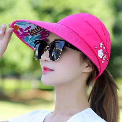 瀅瀅小鋪( 編號QF070 )休閒百搭出遊防紫外線 可收納防曬太陽帽遮陽帽