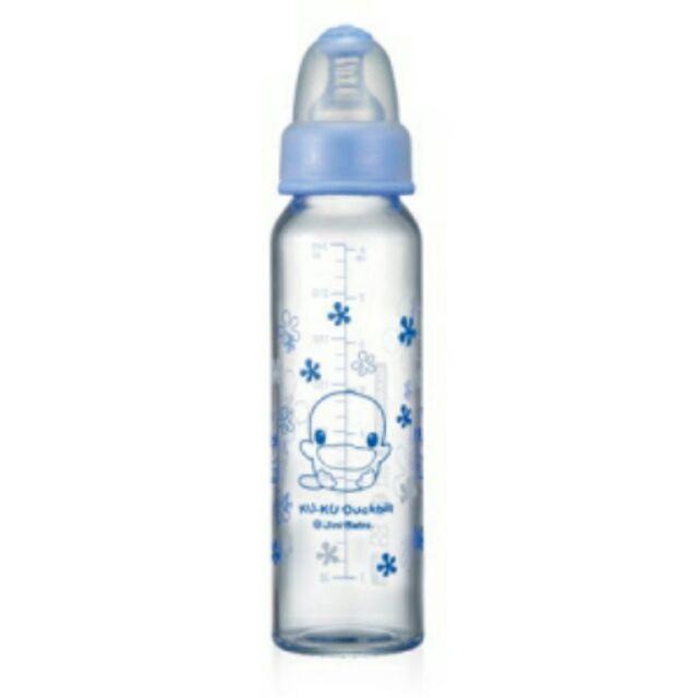 Kuku 酷咕鴨晶亮加厚玻璃奶瓶240ml