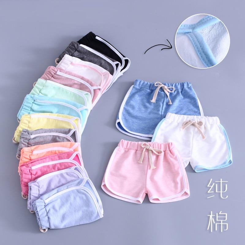 女童短褲➰男童 休閒熱褲兒童純棉純色沙灘褲 寶寶三分褲