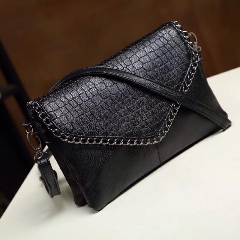 Y2 ™ 鏈條多隔層pu 皮仿真皮 斜背包雙肩包後背包肩背包手提包 袋