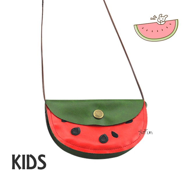 ~AsFun ~西瓜包包 兒童背包側背包零錢包 親子穿搭 柔軟輕盈今年最
