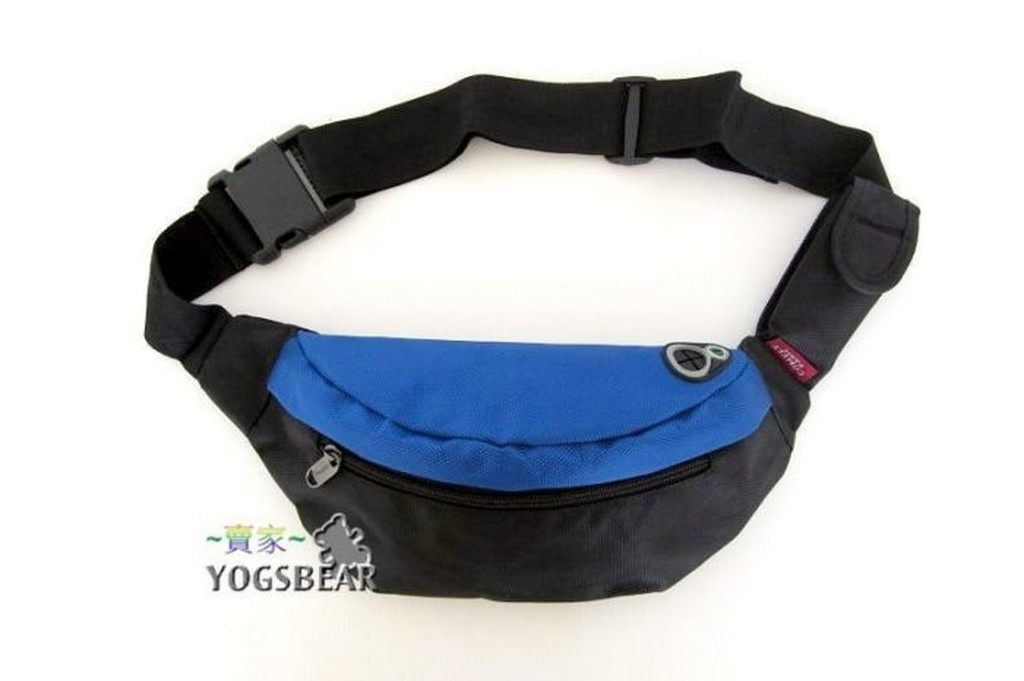 悠格~YOGSBEAR ~A 星光藍男女 防水側背包單肩背包腰包後背包臀包防扒腰包腳踏車包
