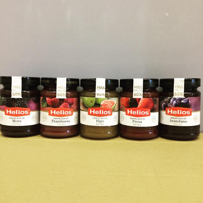 西班牙Helios 歐洲 草莓藍莓無花果覆盆子黑莓果醬340g