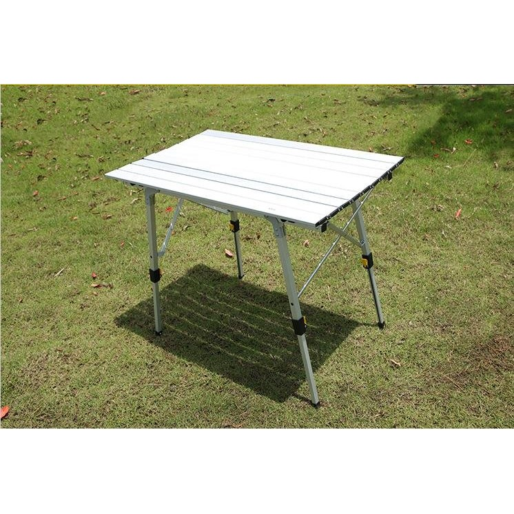 正品夏諾多吉戶外升降折疊桌鋁合金蛋捲桌可調高度蛋捲桌野餐桌蛋捲桌90 53cm 43 70