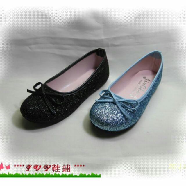 y 鞋舖㊣↘黑藍色↙㊣金蔥亮粉小淑女包鞋~編號9090 ~ 品