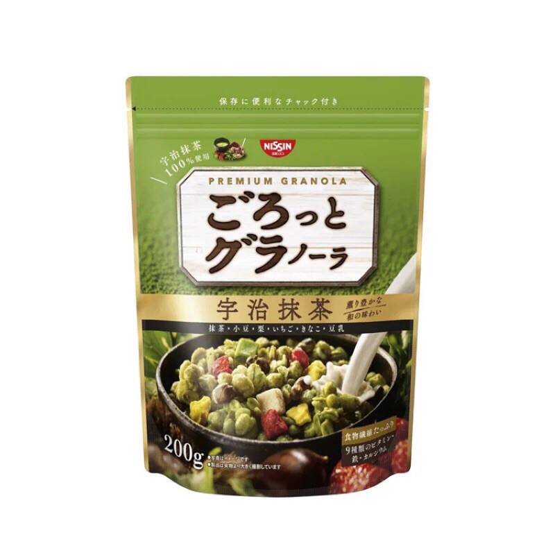 日清NISSIN 宇治抹茶水果穀物綜合麥片200g 下單當日配送慶雙11 一包只要110