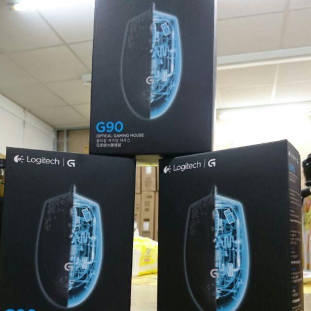 羅技滑鼠Logitech G90 有線光學滑鼠