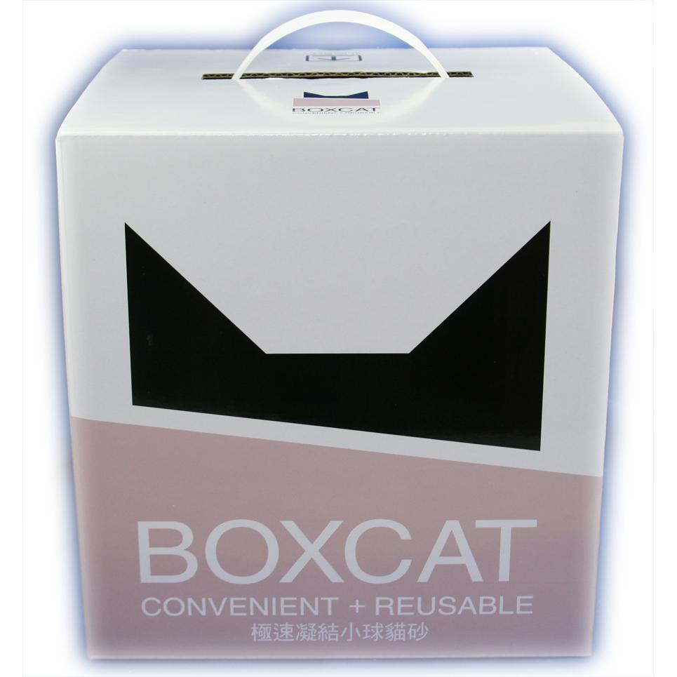 ~80 號寵鋪~國際貓家勤勞多貓家庭 貓砂系列BOXCAT 灰標極速凝結小球貓礦砂12L