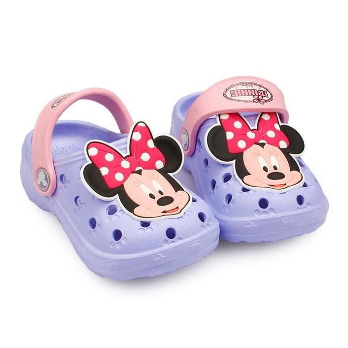 迪士尼米奇米妮防滑兒童沙灘鞋洞洞鞋沙灘洞洞鞋布希鞋防水涼鞋