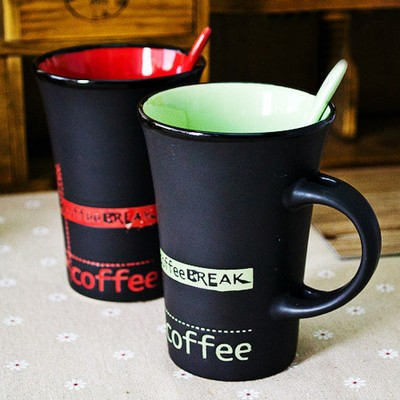 新品 星巴克陶瓷馬克杯辦公牛奶咖啡杯帶蓋勺簡約喝水大容量水杯子