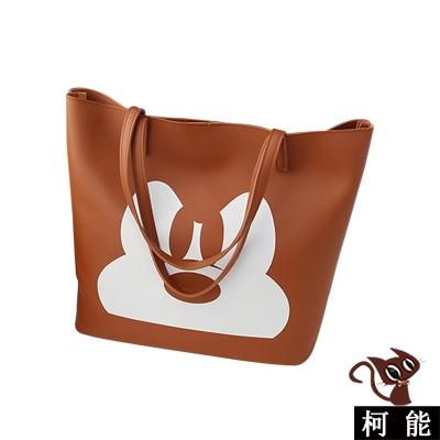 手提包~6674 ~ 卡通人物白印花手提包側背包兩用包