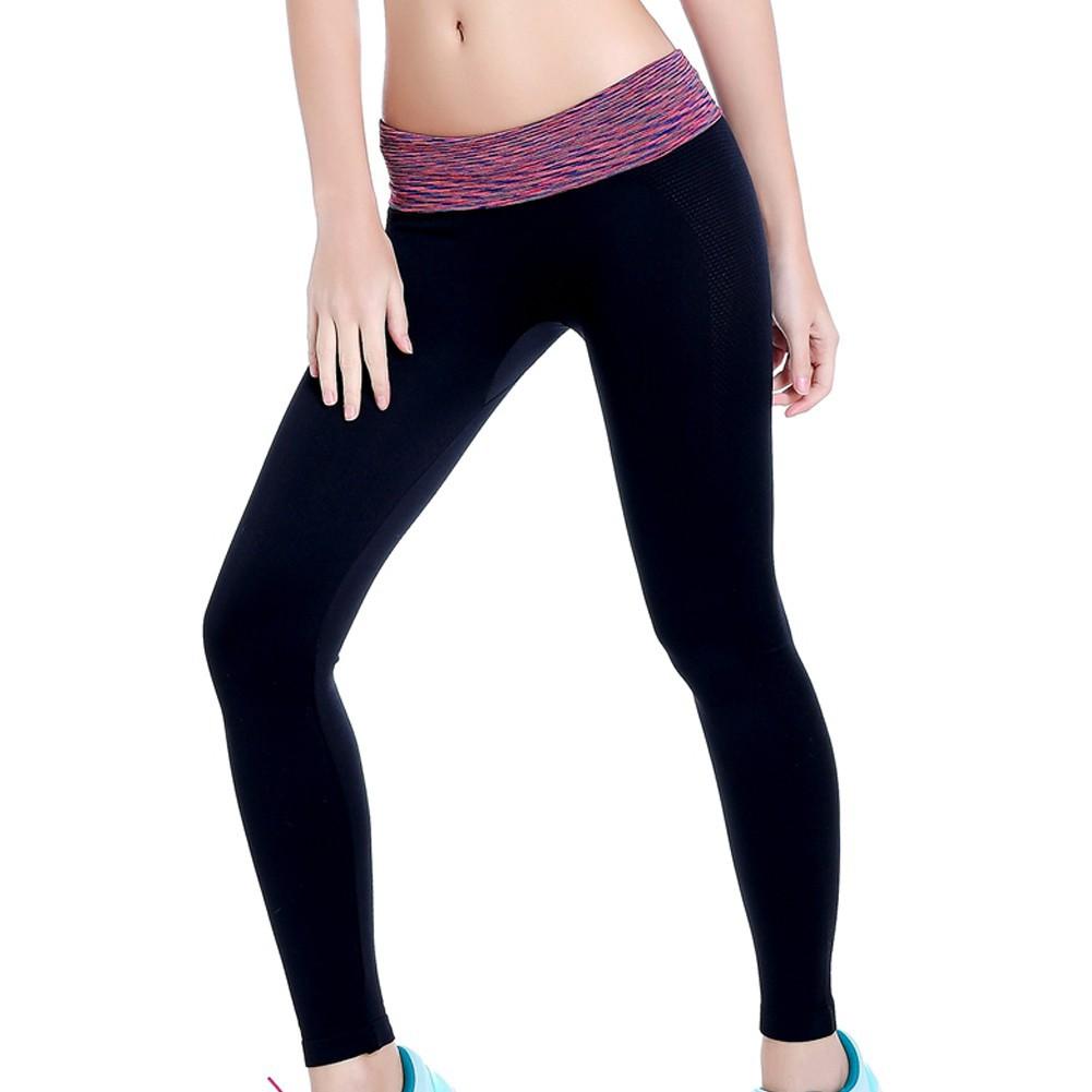 女裝 緊身 長褲高彈力吸濕速幹健身跑步瑜伽束腿褲顯瘦 褲瑜伽褲高彈性