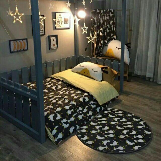 韓國ins 鴨鴨純棉卡通床包四件組床單被套枕套床組無印良品ikea zera 雙人床兒童簡