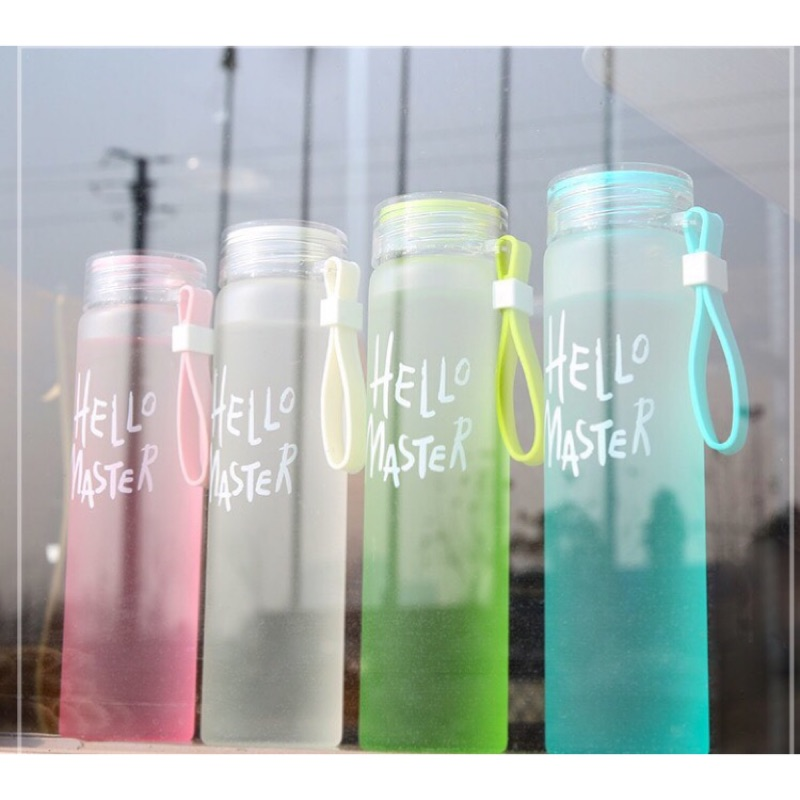 送杯套 玻璃杯耐熱漸變色磨砂韓國杯子攜帶方便 佳