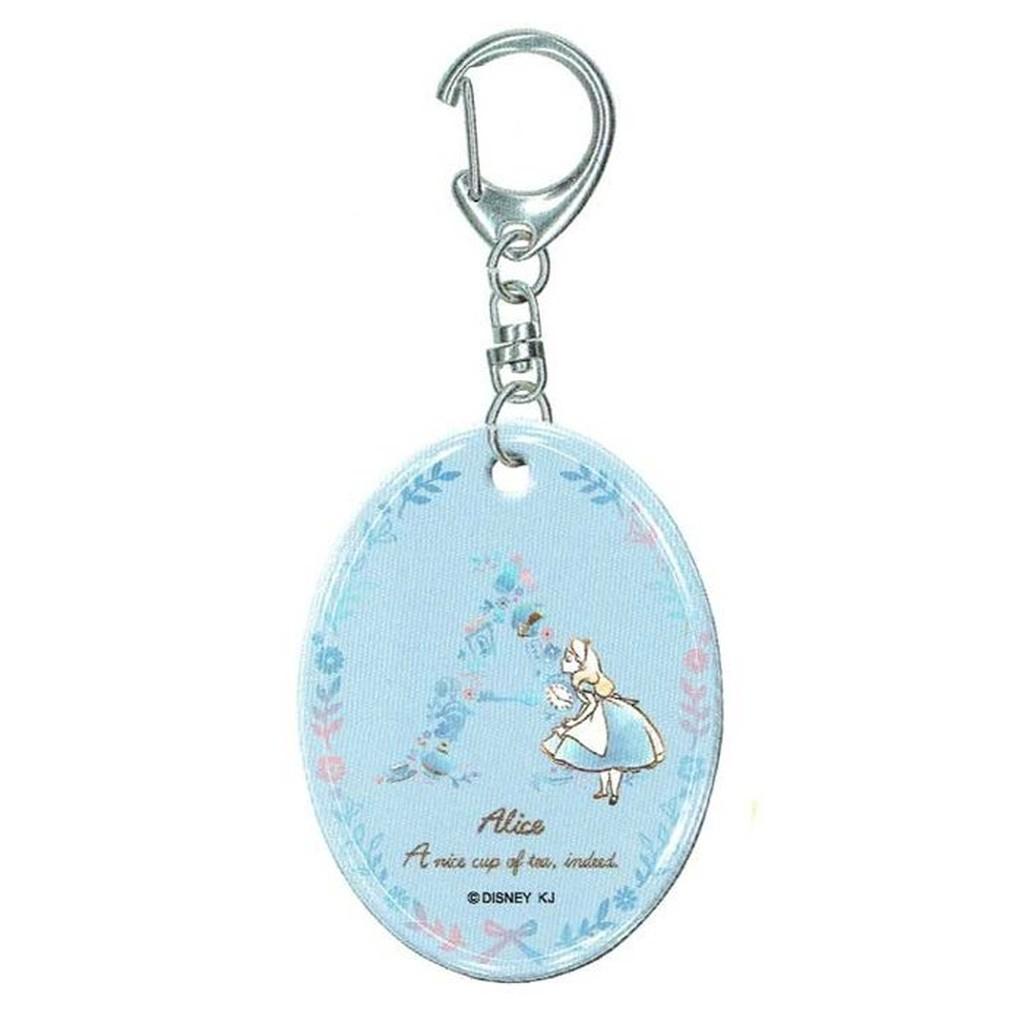 ⊕FollowV ⊕ Disney 迪士尼~ ~童話愛麗絲唯美 花卉淡藍色壓克力鑰匙圈