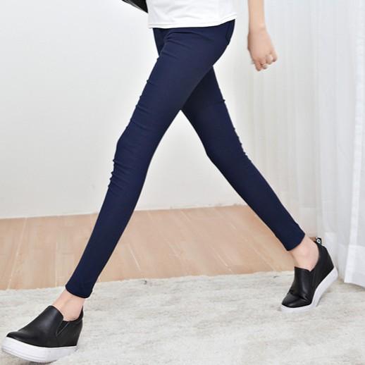 2016 秋薄款黑色緊身小腳長褲外穿彈力顯瘦鉛筆褲潮