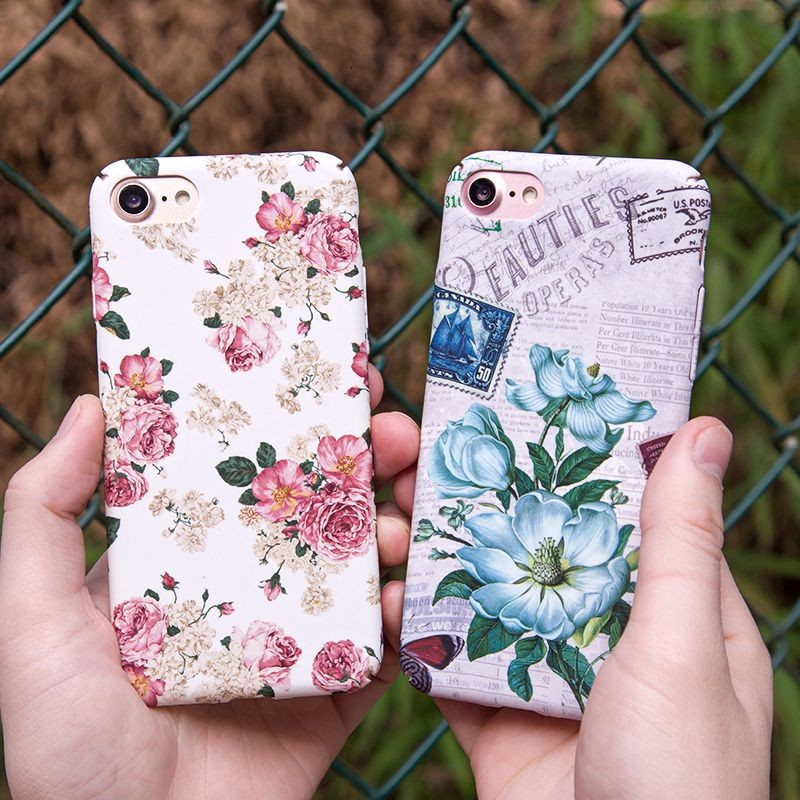 iPhone 6 i6s 7 Plus 可愛日韓清新花朵簡約全包覆手機殼硬殼保護套保護殼