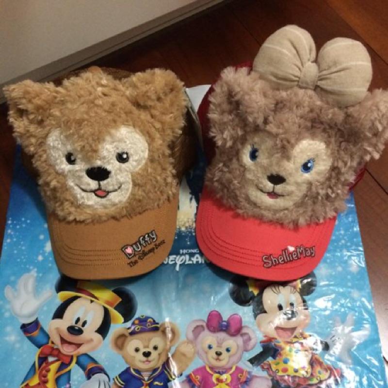 香港迪士尼限定雪莉玫達菲熊duffy 絨毛帽子分開販售ㄉ