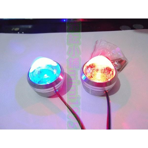 1 對 LED 魚眼爆閃燈3 色~沛紜小鋪~汽車機車都 車牌螺絲燈射燈刹車尾燈爆閃燈LED