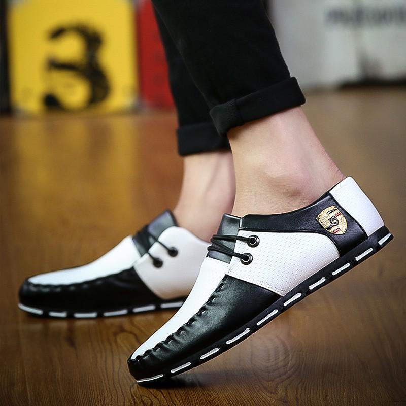 2017 男士 休閒皮鞋 鞋一腳蹬懶人鞋學生透氣豆豆鞋潮鞋