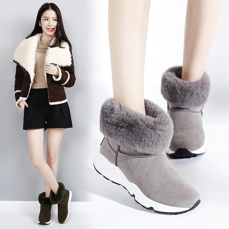 短靴2016 女靴子平底雪地靴女中筒靴加厚冬靴保暖 短靴女鞋棉鞋過膝靴短靴馬丁靴靴子