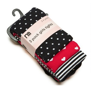 Mothercare 精梳棉兒童褲襪C 組~每組3 雙入~4 7Y