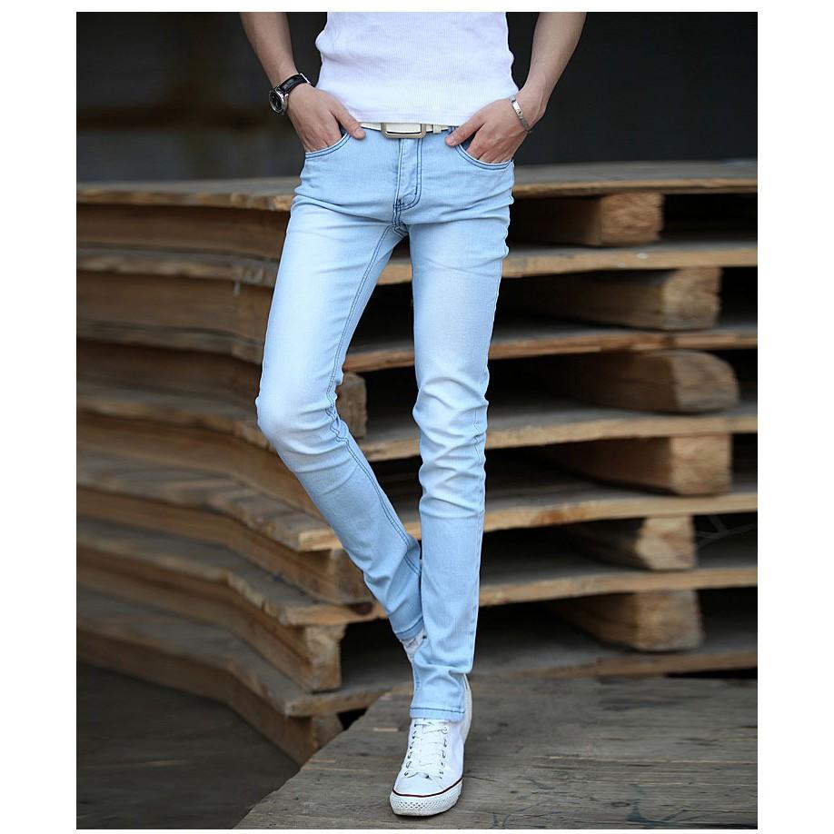 一件代發男式牛仔褲男士 修身彈力小腳褲 黑色男褲子潮