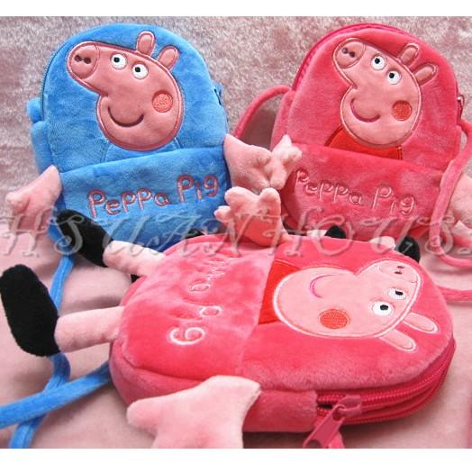 peppa pig 佩佩豬喬治豬兒童斜背包手機包相機包童包