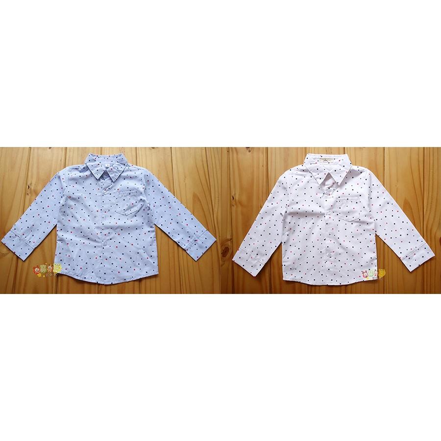 67038 小星星口袋薄長袖白襯衫畢業婚宴5 17 號中小童
