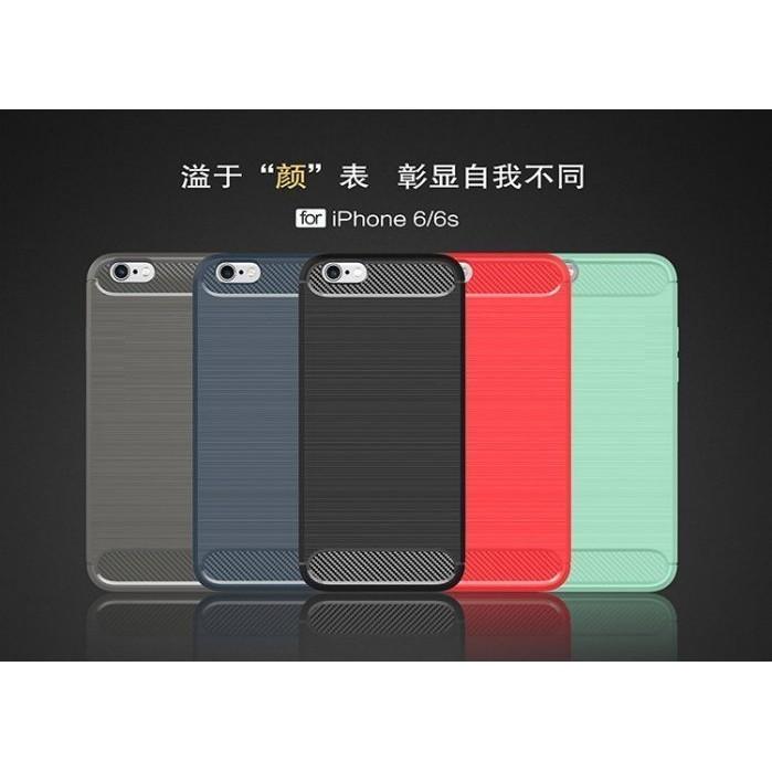 4 邊全包邊拉絲碳纖維軟殼4 7 吋iPhone 6 6s 手機殼矽膠鏡頭保護套5 5 吋