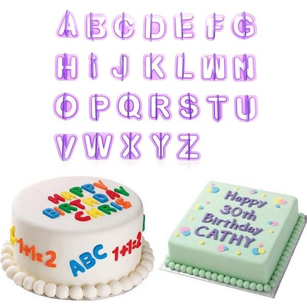 40 件套裝烘焙模具字母號碼翻糖蛋糕餅乾烘焙餅乾刀模具