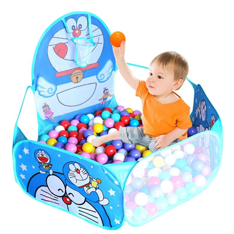 海洋球池兒童0 1 2 周歲玩具波波球 大嬰兒帳篷彩色球寶寶球池寶寶遊樂球池哆啦A 夢