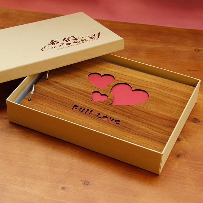10 寸木質diy 相冊本粘貼式影集情侶寶寶家庭成長 相簿