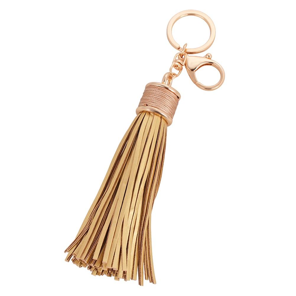 皮革流蘇鑰匙扣金屬汽車鑰匙鏈包包掛飾掛件