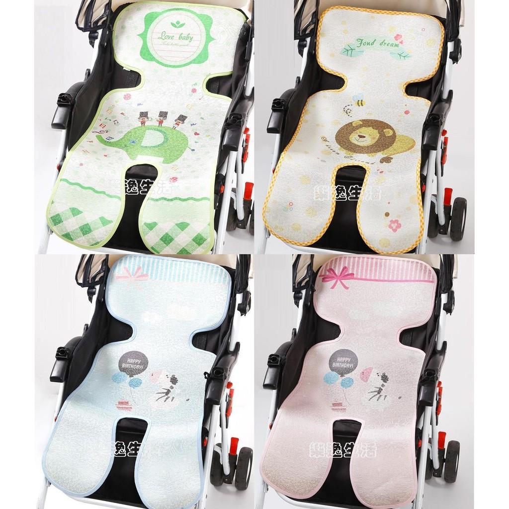 嬰兒幼兒兒童三層加厚冰絲五點式手推車涼席(推車席推車蓆推車涼蓆單向雙向多牌 )