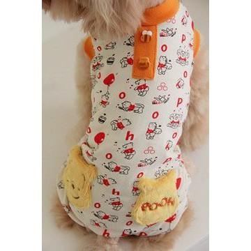 Pet Paradise Disney PooH 維尼 口袋可愛連身褲4S 3S DSS