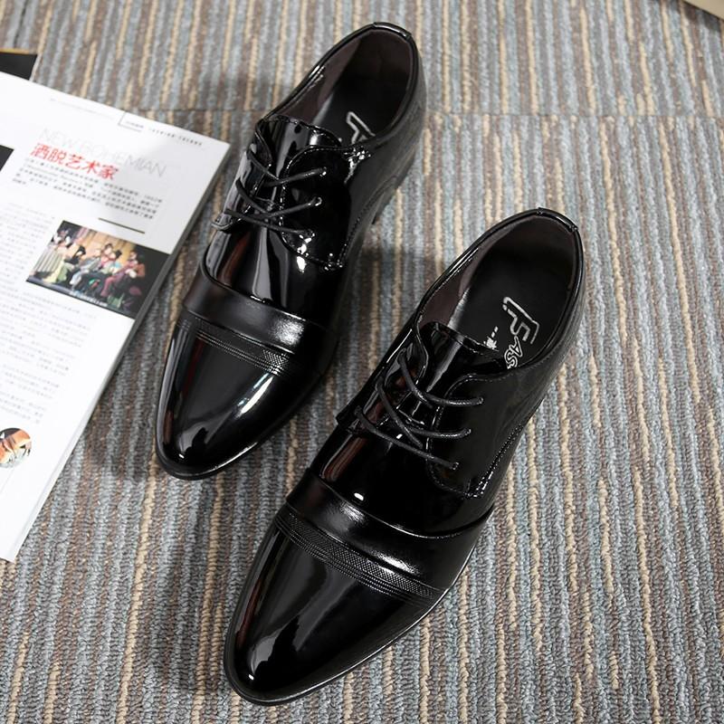 新品 男士皮鞋男單鞋真皮系帶婚鞋英倫商務正裝鞋尖頭休閒牛皮男鞋