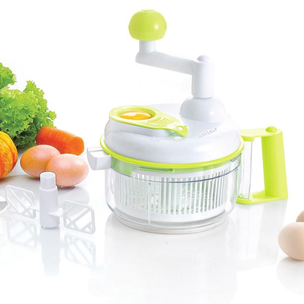 手動食品切碎器蔬菜水果切菜機沙拉製作雞蛋黃蛋清分離器