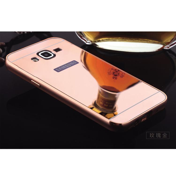 鏡面GALAXY J2 二合一金屬邊框PC 背板背蓋手機殼保護套金屬框保護殼三星