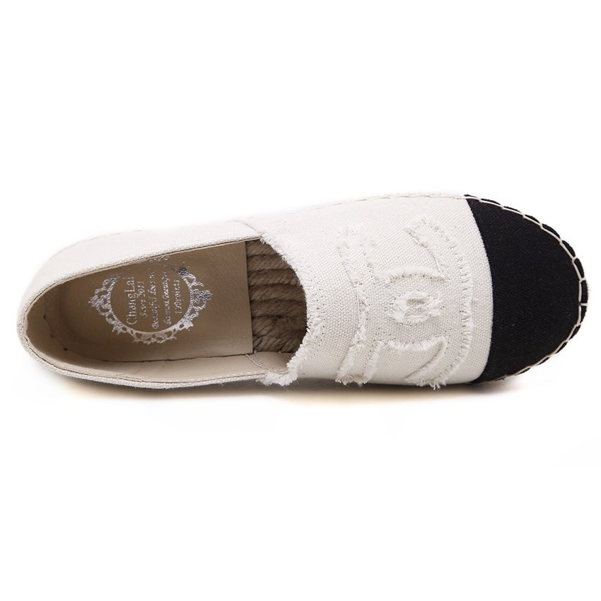 歐洲站小香風圓頭編織麻繩漁夫鞋 漁帆布鞋厚底草編單鞋平底樂福鞋