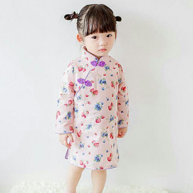 中國風粉底草莓旗袍~ ~