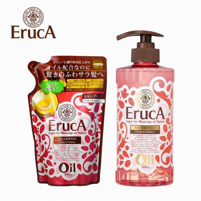 ERUCA 艾露卡精油燙染蓬鬆洗髮乳500ml 補充包400ML